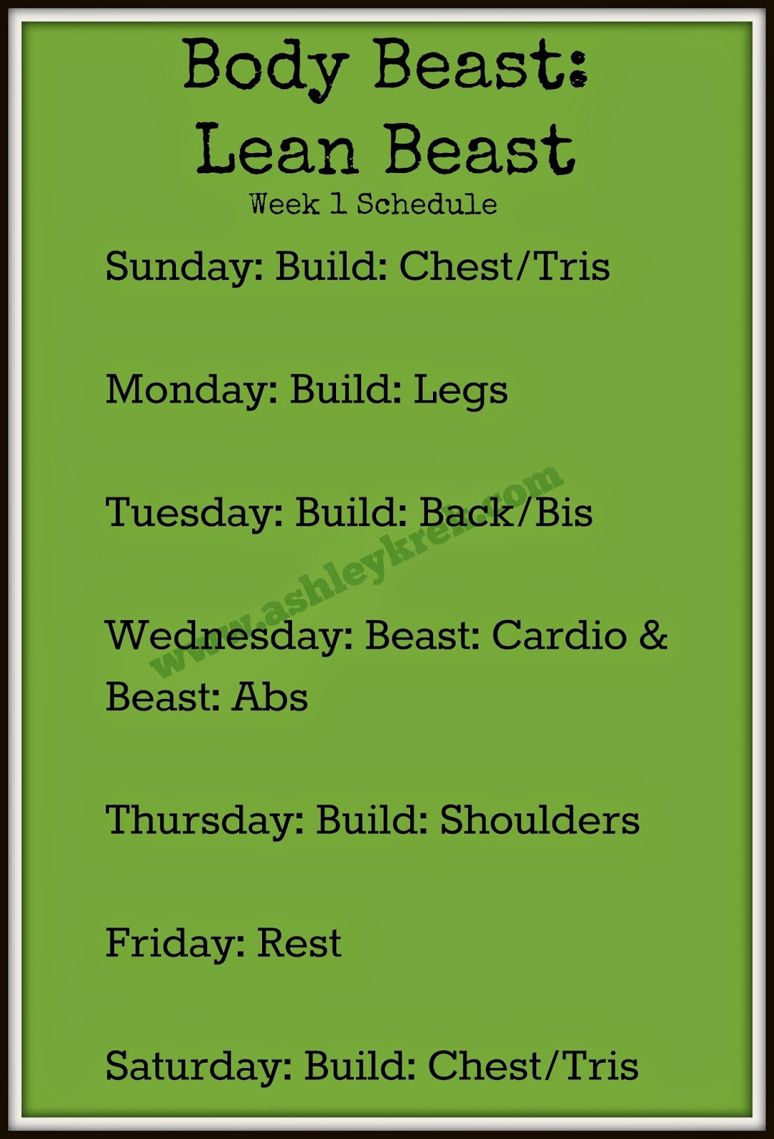 Body Beast Week One Results