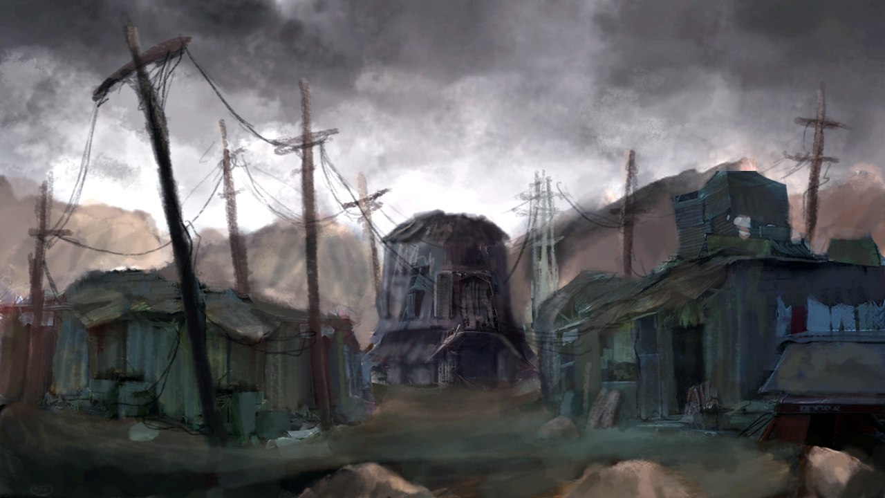 the divided  initial environment concept art