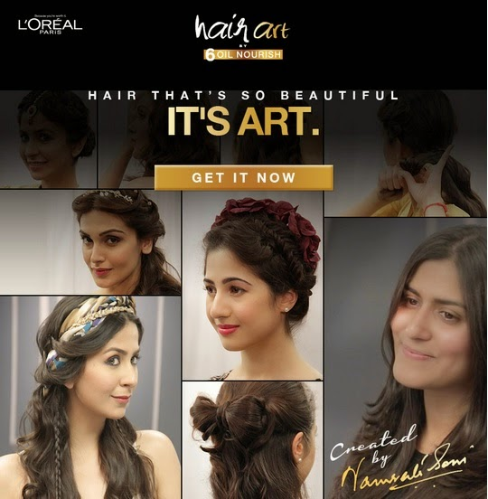 L'Oréal Paris India HAIR ART by 6 Oil Nourish Hairdo updo prom styles, date styles