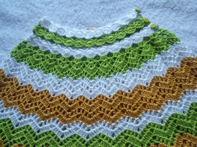 Вязание юбки зигзагами крючком 21