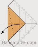 Bước 6: Gấp chéo góc giấy ra ngoài.