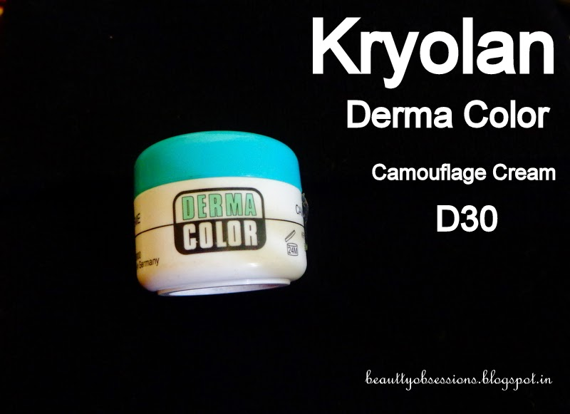 Kryolan Derma Color Camouflage Cream ( D30 )Review & Demo...