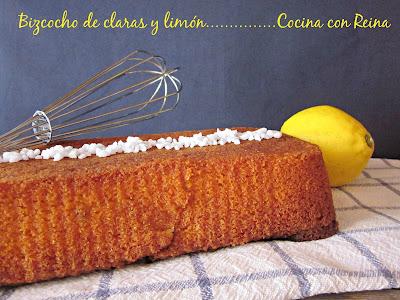 Bizcocho De Claras Y Limón