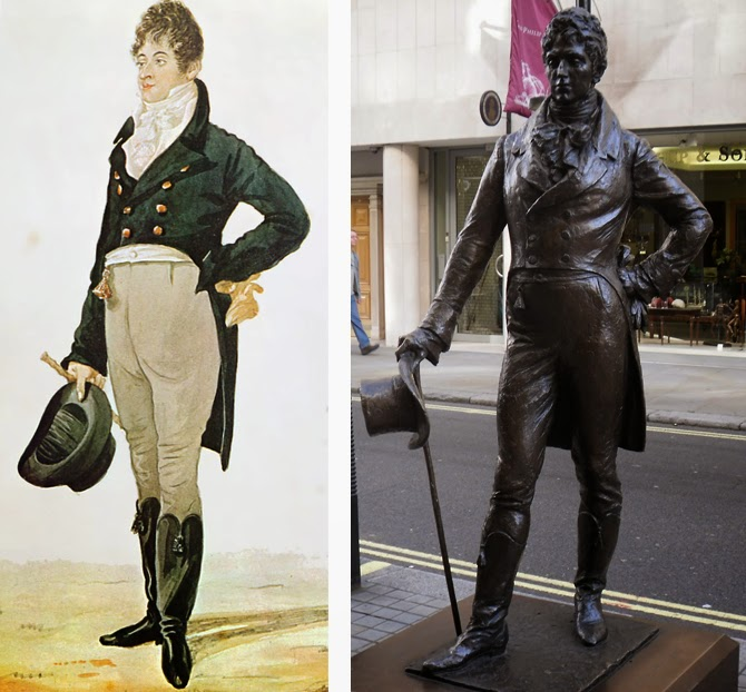 Where band name Beau Brummels came from - Beau Brummell suit