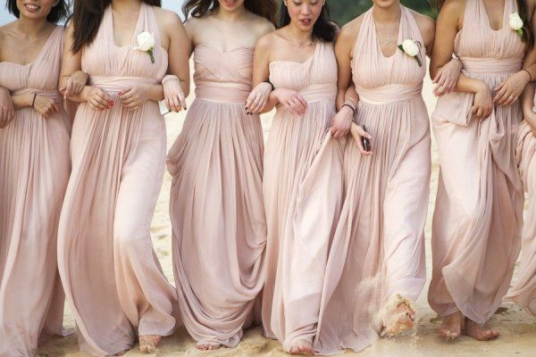 Blush Wedding Dress Bridesmaids : Lamb blonde wedding wednesday blush pink ivory