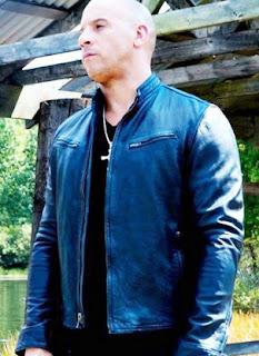 Jual Jaket Kulit Vin Diesel Biru