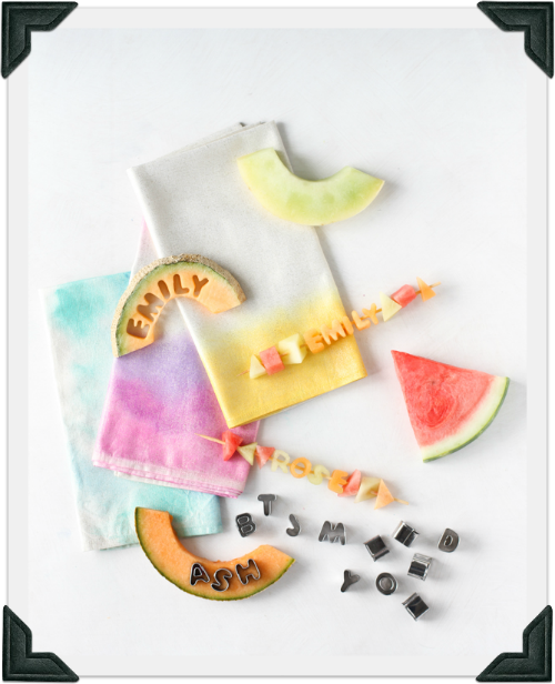 Edible Fruit Kebab Party Place Setting by Creativelive