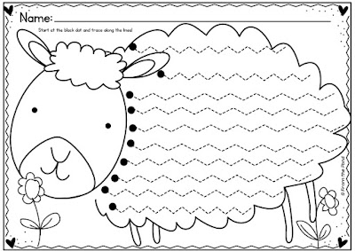 to download a FREE copy of these Spring Lamb Handwriting worksheets ...