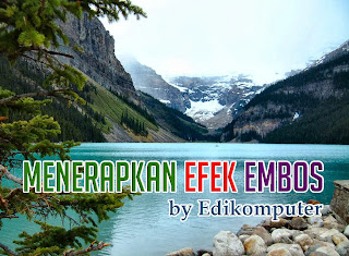 Video Tutorial Cara membuat efek embos di photoshop