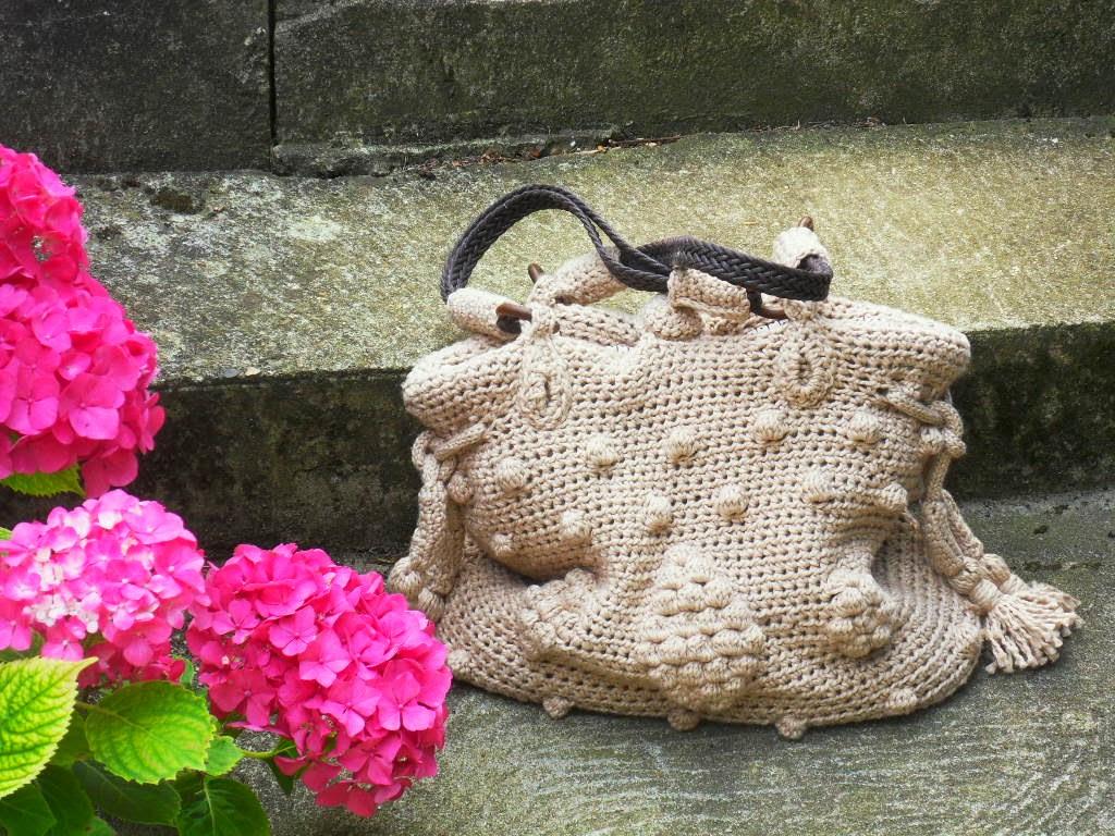 sac au crochet avec du coton