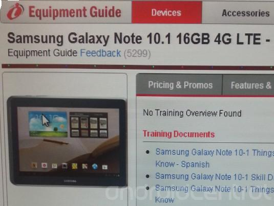 Verizon Samsung Galaxy Note 10.1 To Receive 4G LTE On March 7