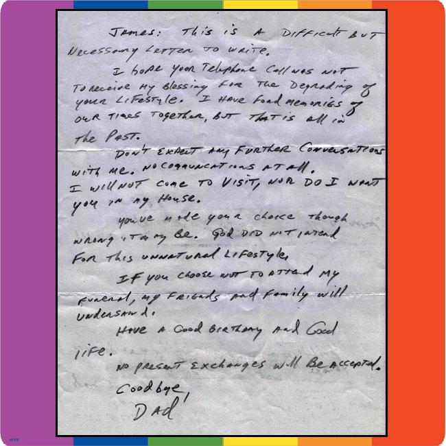 carta papa hijo: