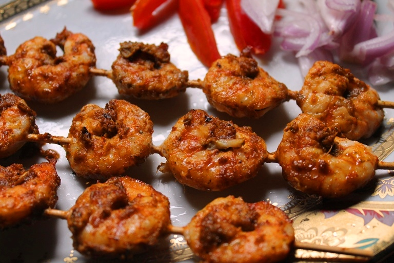 Grilled Prawns Recipe / Spicy Masala Grilled Prawns Recipe