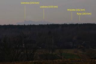 Tatry z Huciska - zdjęcie z opisem, 2015.12.27. fot. Łukasz Żądło