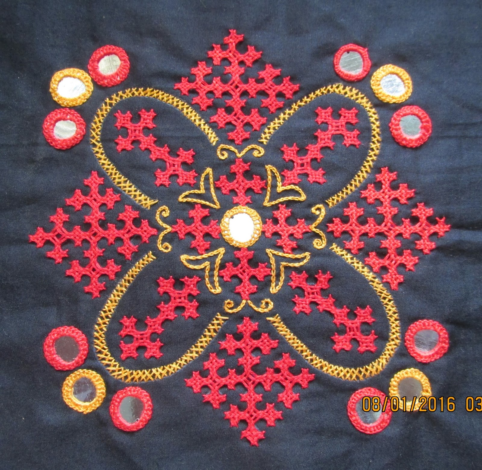 My Craft Works Kutch Work Motif And A Cross Stitch Tada