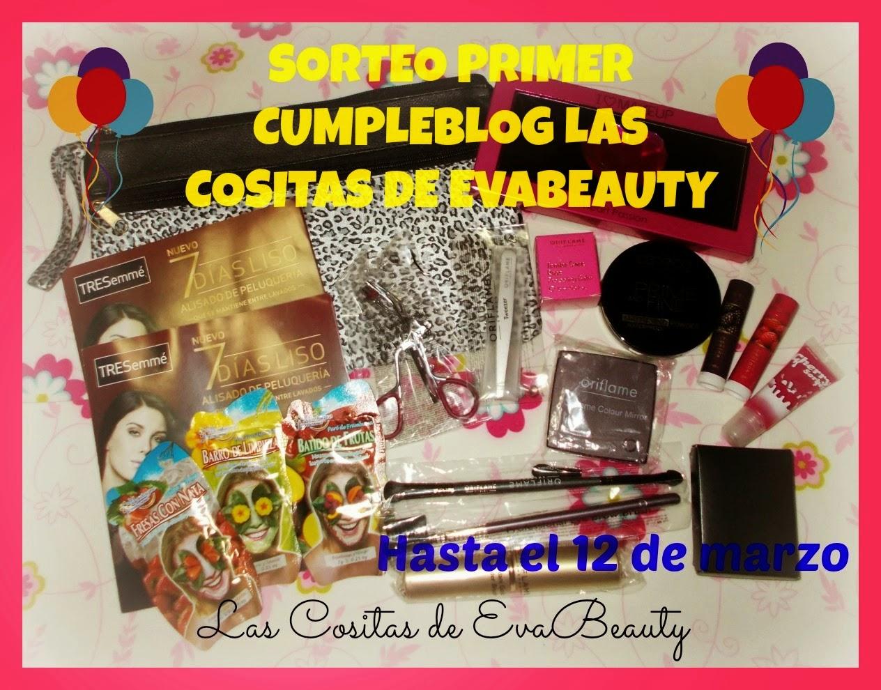 Sorteo primer cumpleblog Las cositas de Evabeauty