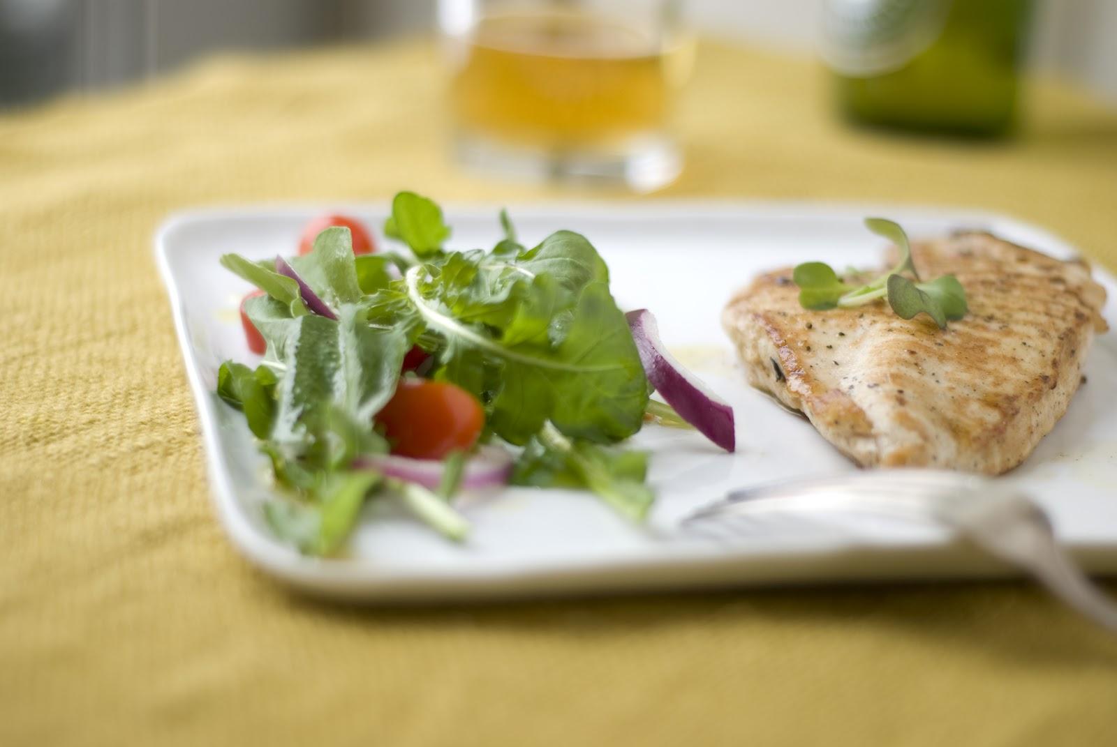 Grilled Chicken Paillards With Mint Salad Recipe — Dishmaps
