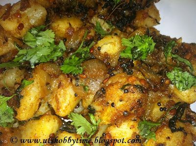 Spicy Potato Fry / Urulai Kilangu Varuval (Indian Recipe)