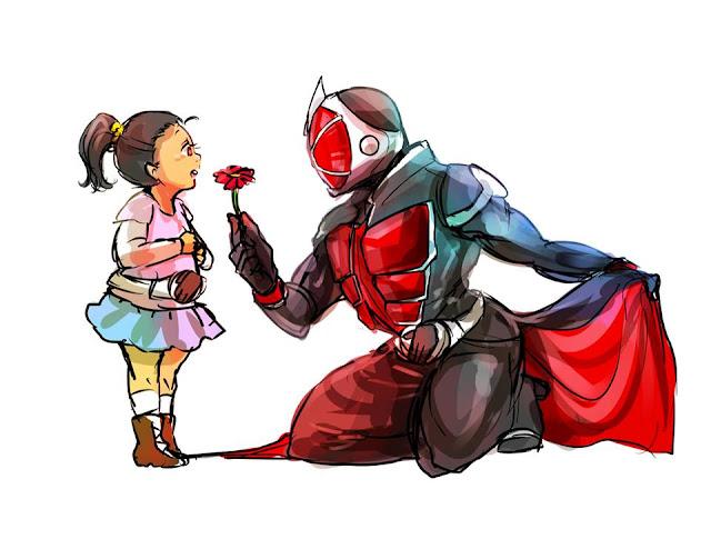 Gambar, Ilustrasi, Kamen Rider, Ksatria Baja Hitam,  Masa Kecil, Kamen Rider Wizard,