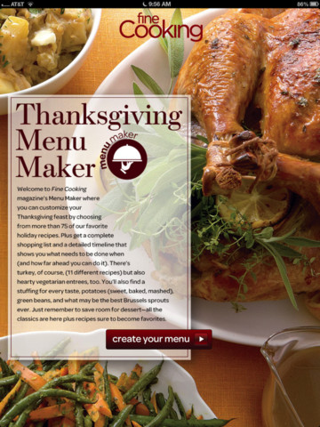 Top 5 free thanksgiving recipes apps for iphone and ipad tips and hanksgiving menu maker from fine cooking thanksgiving recipes app forumfinder Images