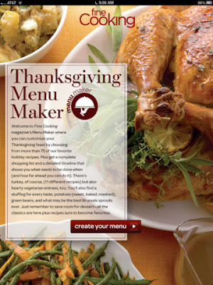 hanksgiving Menu Maker from Fine Cooking - thanksgiving recipes app