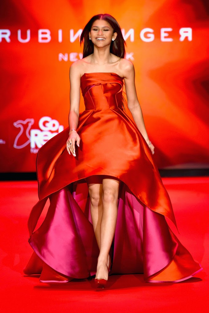Actress, Singer, Dancer, Model: Zendaya Coleman - Go Red For Women Red Dress Collection 2015 in NYC