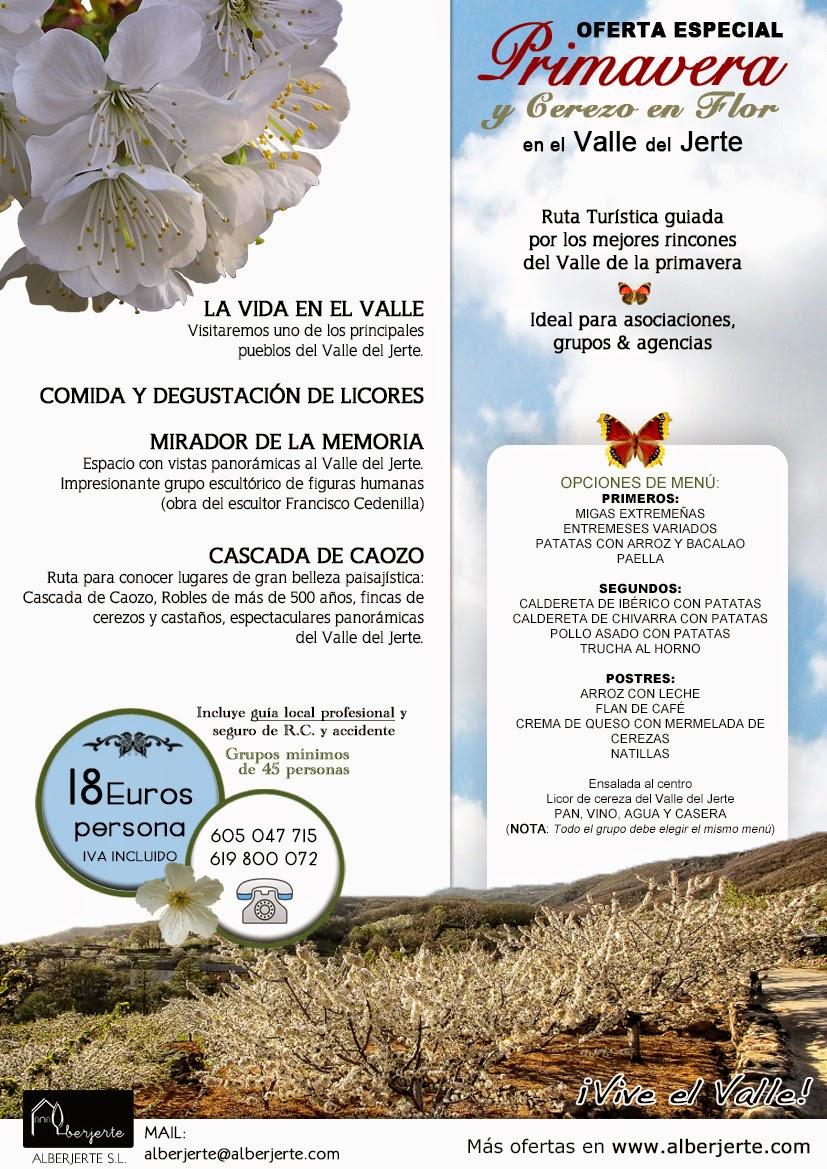 Cerezo en Flor 2015. Valle del Jerte. Excursión.