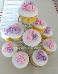 cupcake con rose