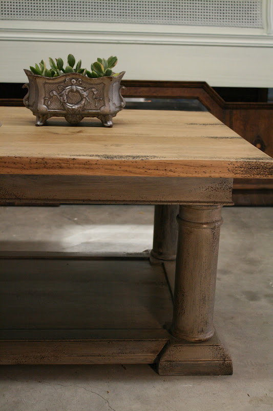 Reloved Rubbish Restoration Hardware Coffee Table Update