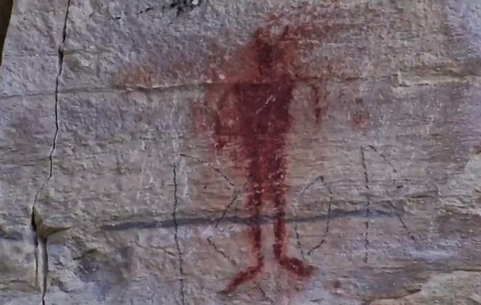 Is This Ancient Ute Indian Cliff Painting a Depiction of Bigfoot?