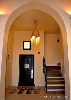 Foyer and staircase in a One-Bedroom Villa at The Cove Rotana