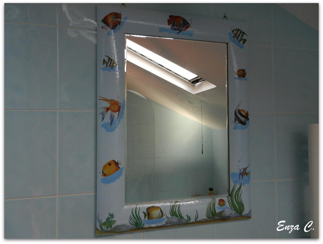 Cornice per specchio bagno lo scrigno del decoupage e - Specchio bagno cornice ...