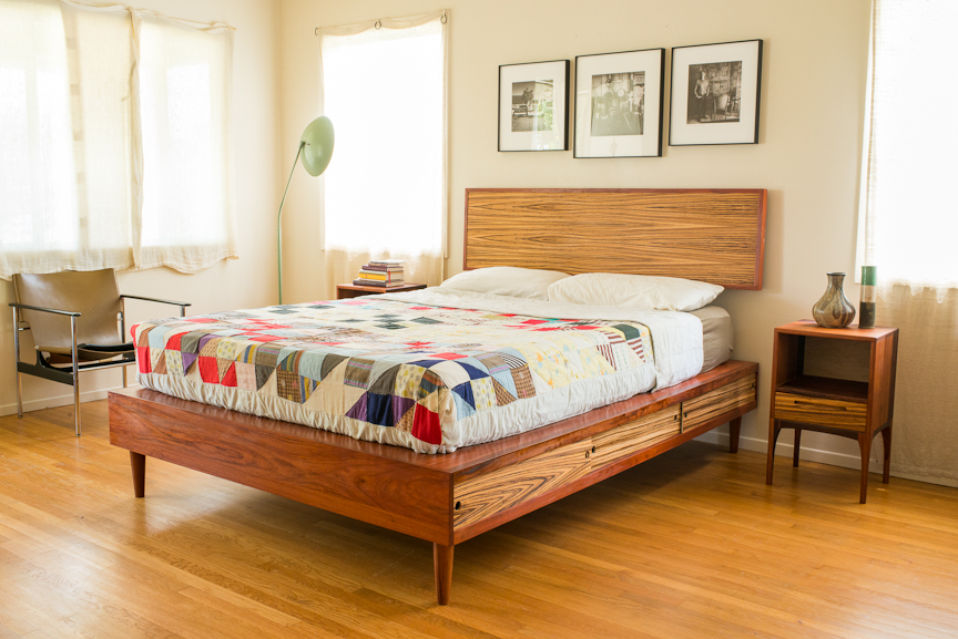 Furniture By Pete Storage Platform Bed With Night Stands From