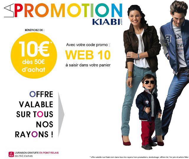 Code promo Kiabi: 10€ offerts dès 50€ d'achat