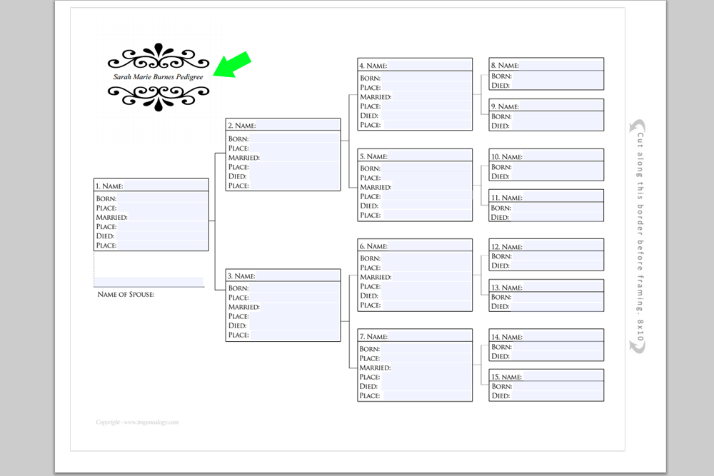 Sample Chart Templates ancestral chart template : Free Pedigree Charts {Type, Print and Frame in 30 min} ~ Teach Me ...