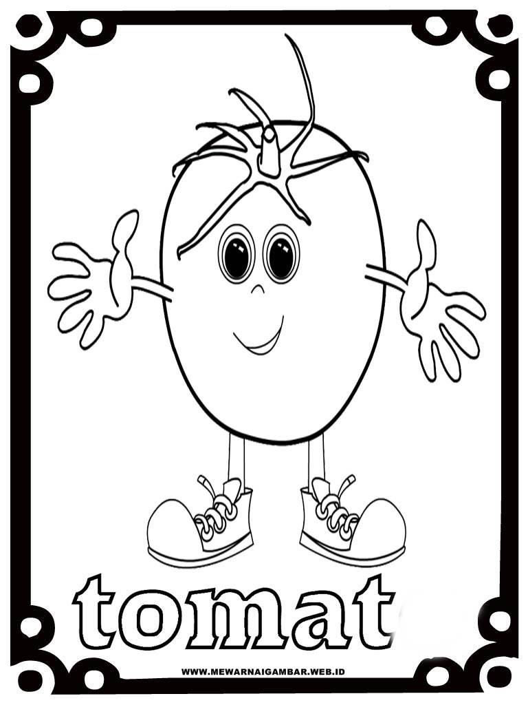 Mewarnai Buah Tomat Bagus Belajar 28 Gambar
