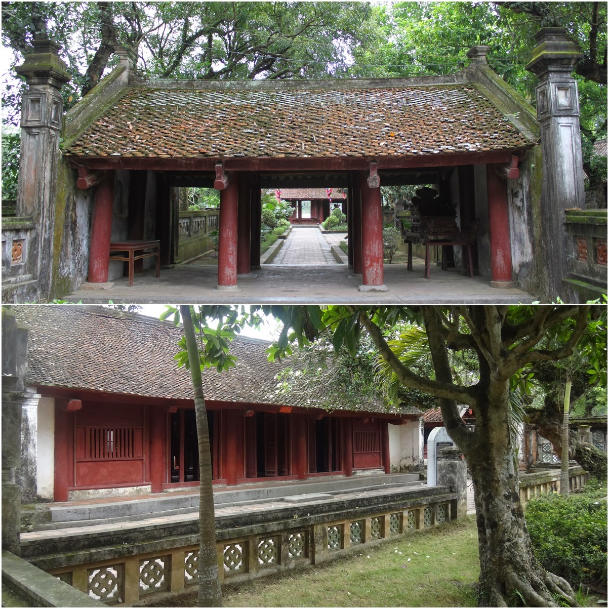 The unique historical Chinese building structure around Hoa Lu capital in Vietnam