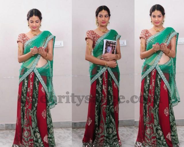 Diksha Panth Shimmer Half Saree