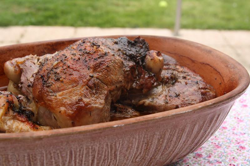Gigot d 39 agneau en rommertopf cuisson sans mati re grasse - Cuisine sans matiere grasse ...