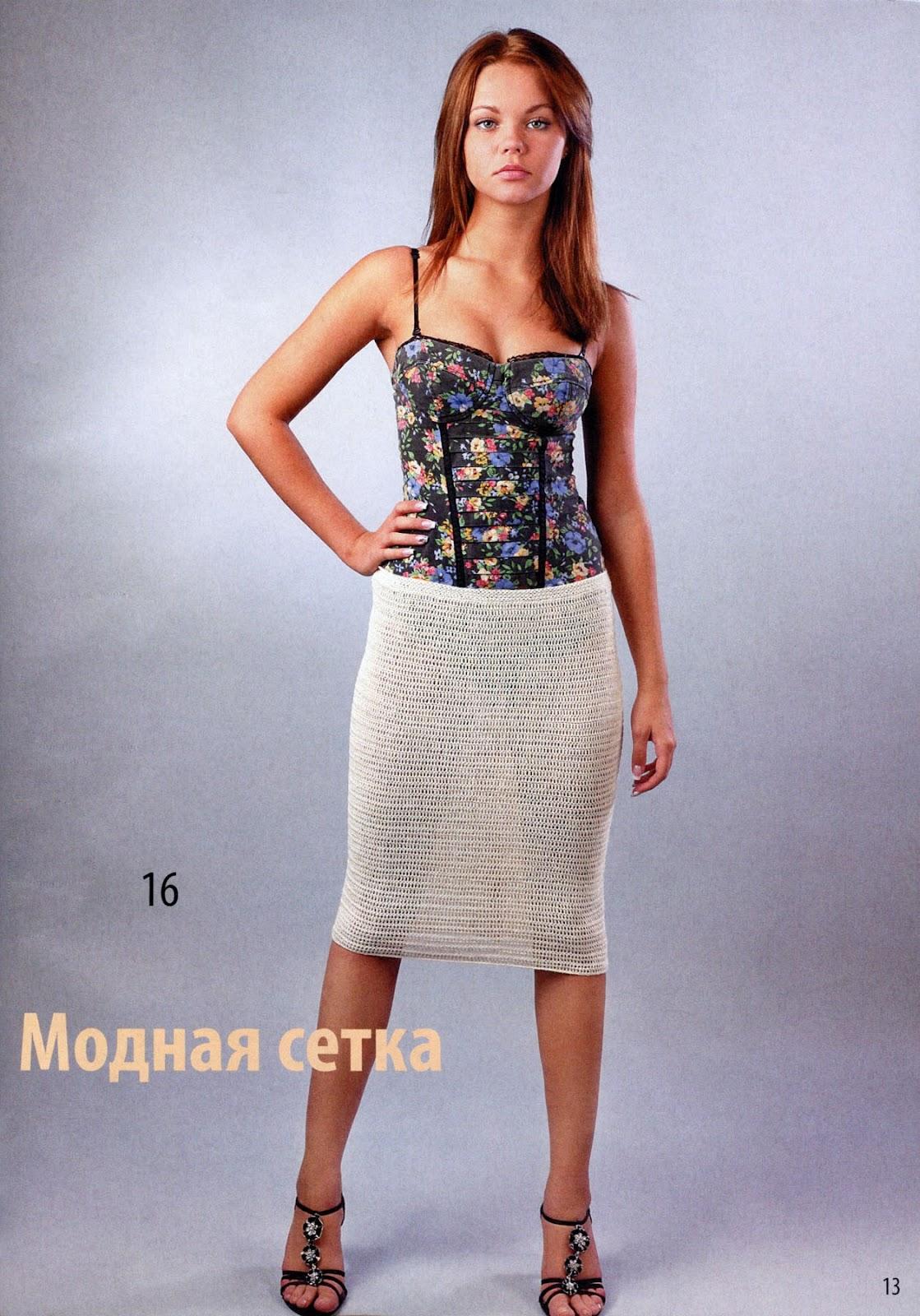 диана вязание крючком юбки: