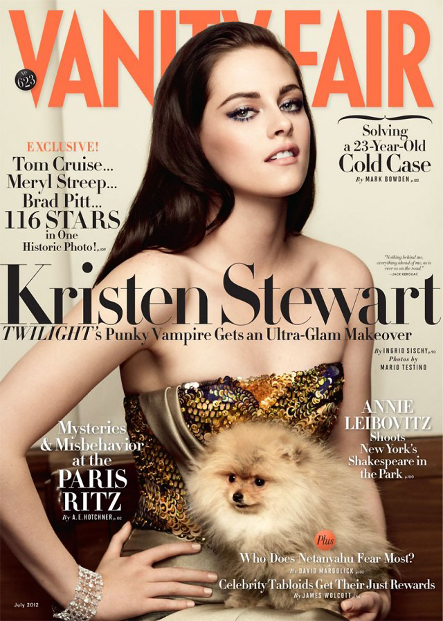 Vanity Fair July 2012 Kristen Stewart by Mario Testino