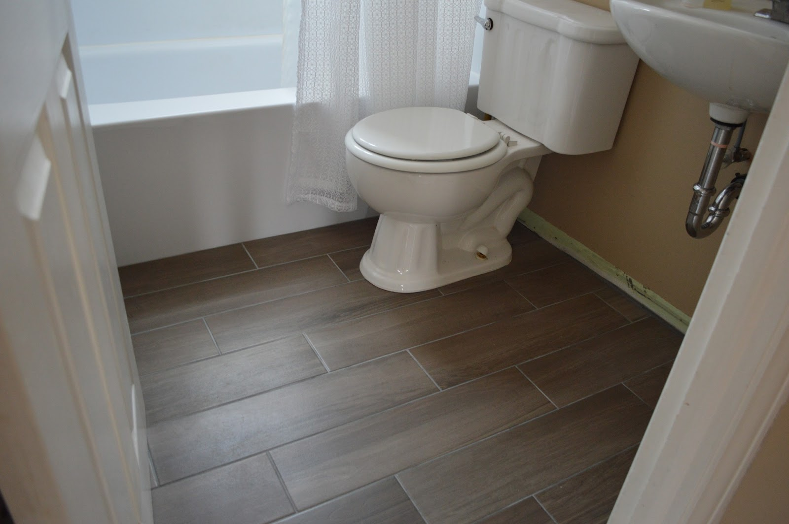When Your Tile Grout Turns White, This May Work... {Bathroom Progress}