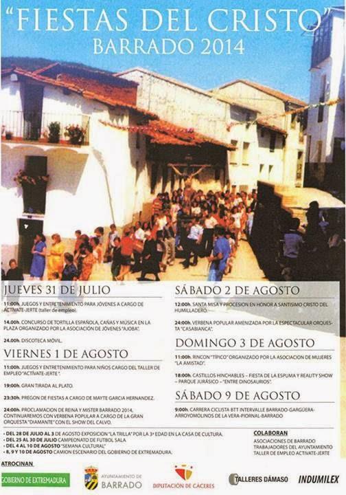 Fiestas del Cristo 2014 en Barrado