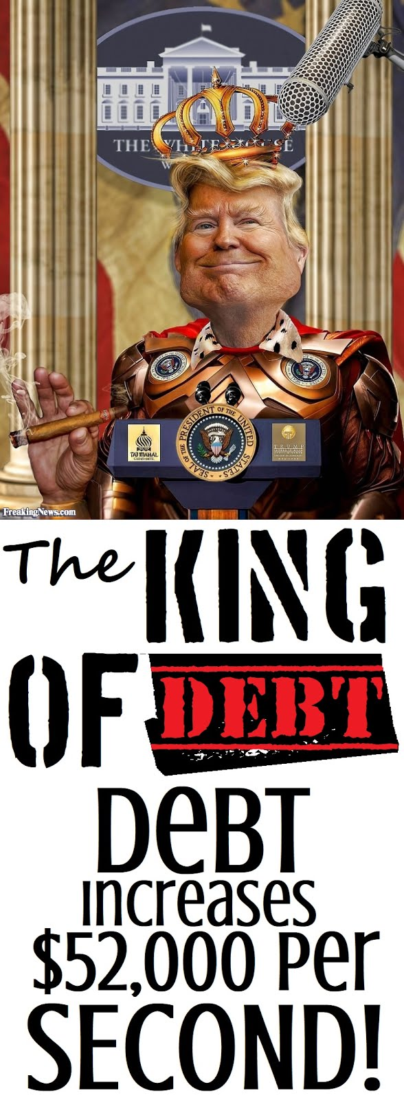 Trump Becomes The King Of Debt!