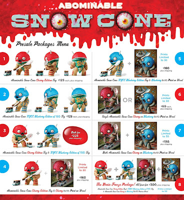 Cherry Edition & New York Comic Con 2015 Exclusive Blueberry Edition Abominable Snowcone Vinyl Figure by Jason Limon & Martian Toys