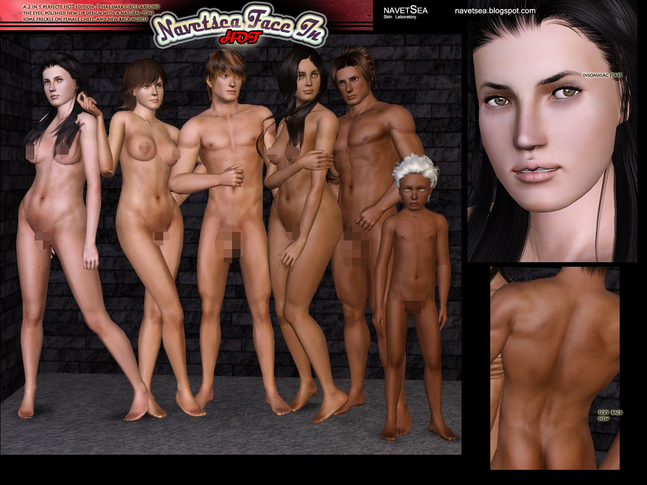 The sims 3 nude female skins hentai wives