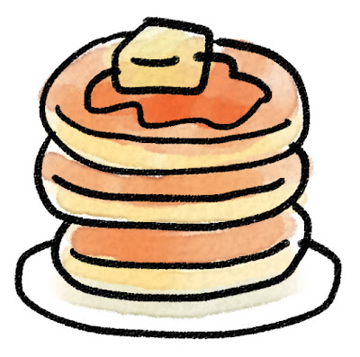 ホットケーキ・パンケーキのイラスト(お菓子)
