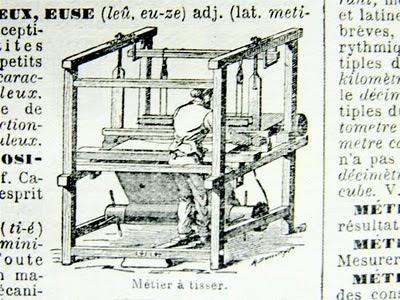 métier à tisser — Webstuhl (als Wörterbuchillustration)