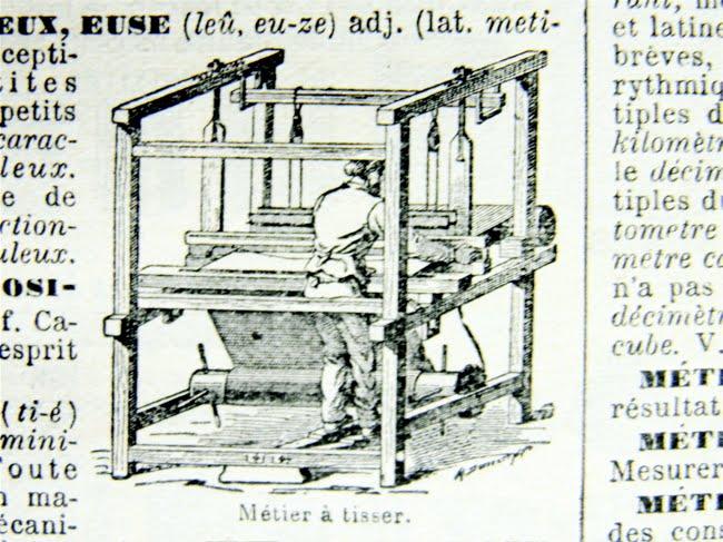 Abbildung métier à tisser — Webstuhl