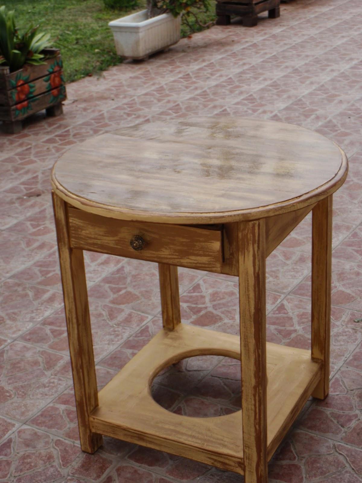 Mesa camilla restaurada - Mesas camillas redondas ...
